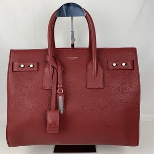 New Saint Laurent Small Sac De Jour Leather Tote